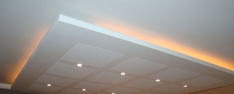 Faux plafond en pl tre alliance r novation for Double plafond suspendu